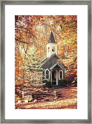 Autumn Chapel Framed Print by Joel Witmeyer