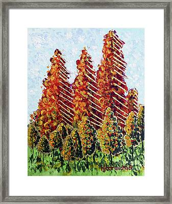 Autumn Christmas Framed Print