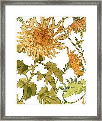 Autumn Chrysanthemums I Framed Print by Mindy Sommers