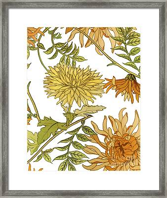 Autumn Chrysanthemums II Framed Print by Mindy Sommers