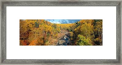Autumn Color Along Beaver River Framed Print by Panoramic Images