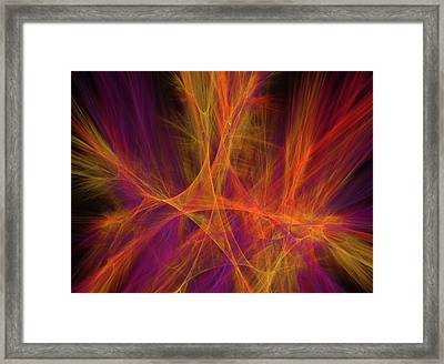 Autumn Color Explosion Framed Print