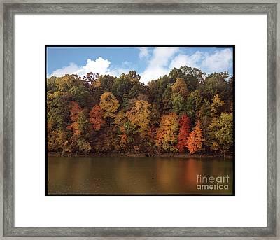 Autumn Color In The Ozarks, Southwest Missouri Usa Framed Print