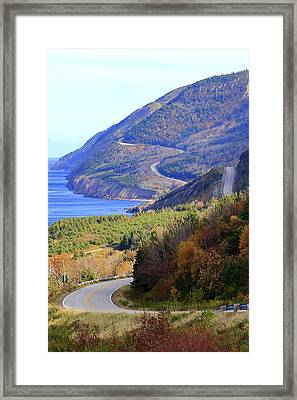 Autumn Color On The Cabot Trail, Cape Breton, Canada Framed Print