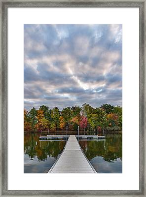 Autumn Colors At The Lake Framed Print