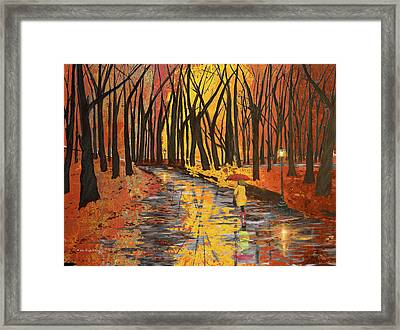 Autumn Colors In The Park Framed Print by Ken Figurski