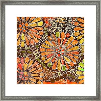 Autumn  Colors Mandalas  Framed Print