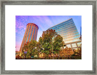 Autumn Colors - Millennium Hotel And St. Louis Buildings Framed Print by Gregory Ballos