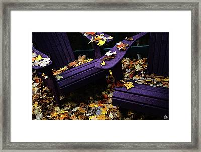 Autumn Colors On The Deck Framed Print by Wayne King
