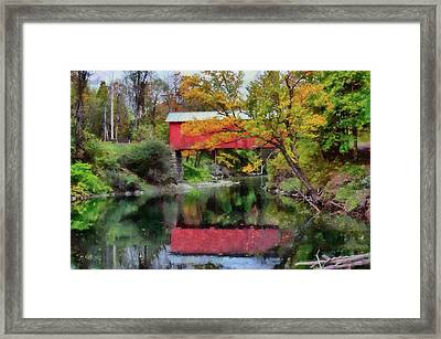 Autumn Colors Over Slaughterhouse. Framed Print
