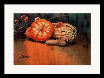 Reflection Harvest Paintings Framed Prints