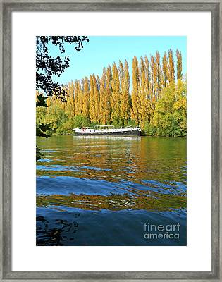 Autumn Colours At Auvers Framed Print by Alex Cassels