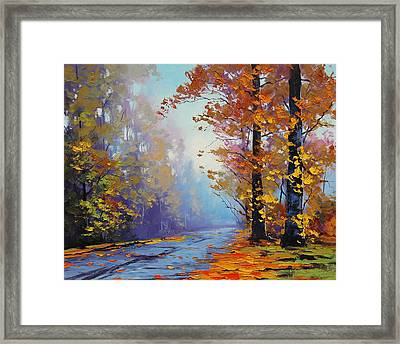 Autumn Colours Framed Print by Graham Gercken