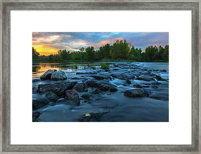 Framed Print featuring the photograph Autumn Comes by Davor Zerjav