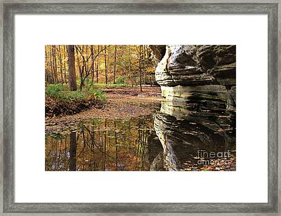 Autumn Comes To Illinois Canyon  Framed Print