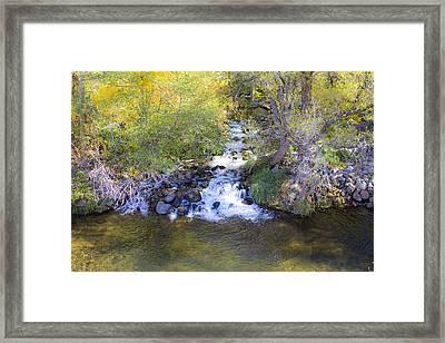 Autumn Comes To Oak Creek Framed Print