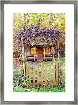 Autumn Cottage Framed Print by Diane Merkle