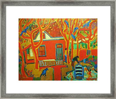 Autumn Cottages Framed Print by Brian Simons