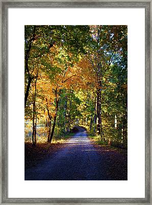 Autumn Country Lane II Framed Print by Cricket Hackmann