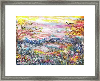 Autumn Country Mountains Framed Print