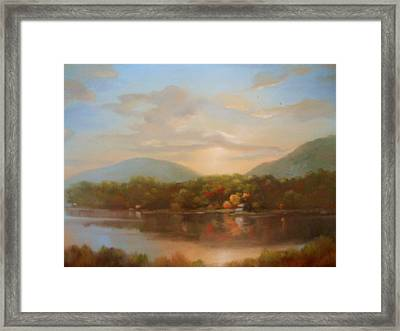 Autumn Creeping In Framed Print by Kevin Palfreyman