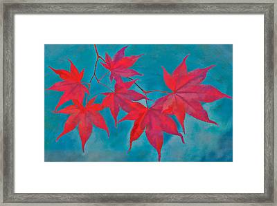 Autumn Crimson Framed Print