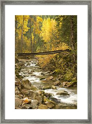 Autumn Crossing Framed Print by Idaho Scenic Images Linda Lantzy