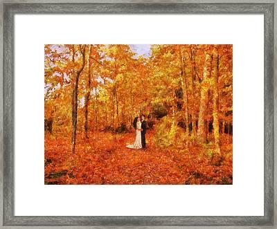 Autumn Dance Framed Print by Jai Johnson