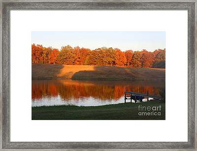 Autumn Day At The Lake Framed Print