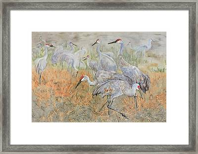 Autumn Day Lingers Framed Print by Vicky Lilla