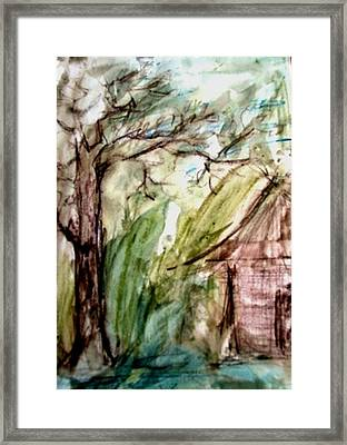 Autumn Days  Framed Print by Fareeha Khawaja
