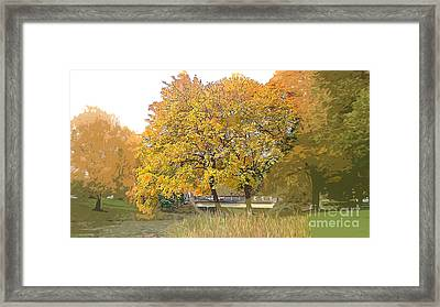 Autumn Days Of Your Life-season Of Harvest Framed Print by Beverly Guilliams