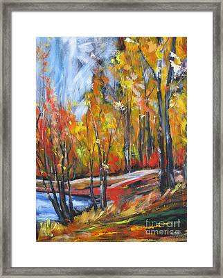 Framed Print featuring the painting Autumn by Debora Cardaci