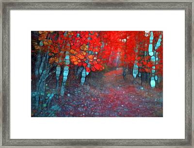 Autumn Distortions Framed Print