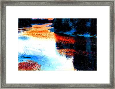 Autumn Down By The River Framed Print