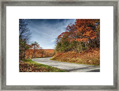 Autumn Dreams Around The Bend Framed Print by Lara Ellis