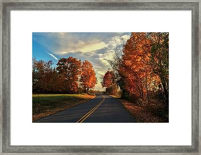 Framed Print featuring the photograph Autumn Drive by Kendall McKernon