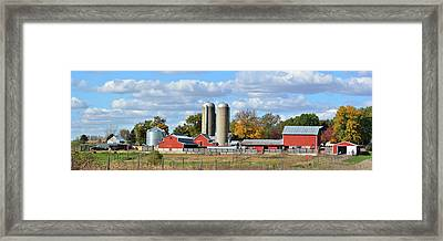 Autumn Elk Farm Framed Print