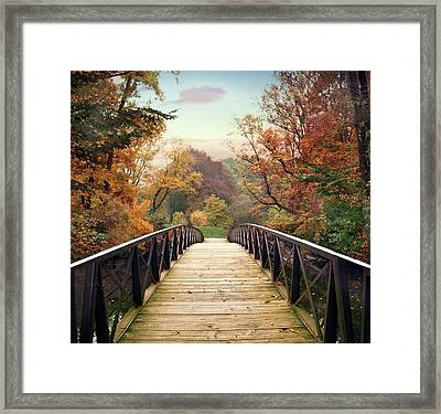 Framed Print featuring the photograph Autumn Encounter by Jessica Jenney