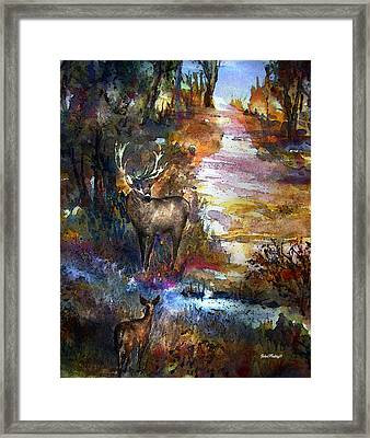 Autumn Encounter Framed Print