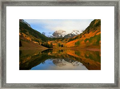 Autumn Enters Maroon Bells Framed Print by Dan Sproul