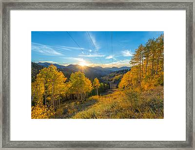Autumn Evening At Guardsman Pass Utah Framed Print by James Udall
