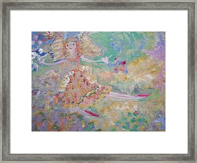 Autumn Fairy Clean Up Framed Print
