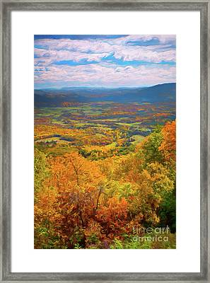 Autumn Fall Colors In The Arnold Valley Ap Framed Print by Dan Carmichael