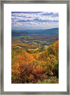 Autumn Fall Colors In The Arnold Valley Framed Print by Dan Carmichael