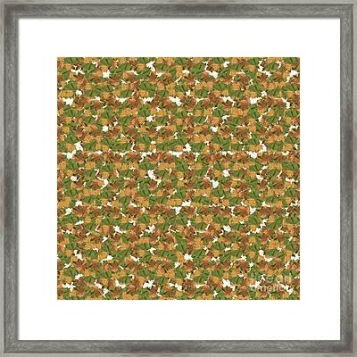 Autumn Fall Leaves Wallpaper. Framed Print