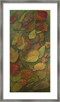 Autumn Falling Framed Print