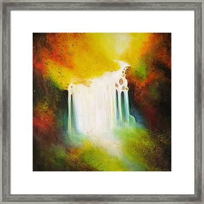 Autumn Falls Framed Print by Jaison Cianelli