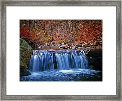 Autumn Falls Framed Print by Jim DeLillo