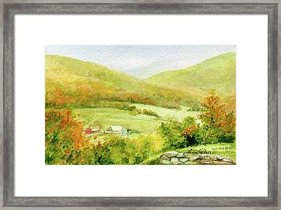 Autumn Farm In Vermont Framed Print